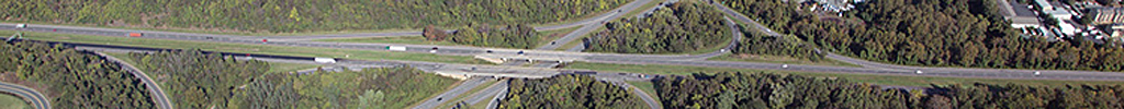 Aerial of intersection